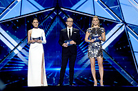 Lucy Ayoub, Erez Tal, Bar Refaeli<br /> Eurovision Song Contest, Rehearsal of the first semi-final, Tel Aviv, Israel - 13 May 2019<br /> **Not for sales in Russia or FSU**<br /> CAP/PER/EN<br /> ©EN/PER/CapitalPictures
