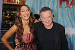 "HOLLYWOOD, CA - NOVEMBER 13: Sofia Vergara and Robin Williams attend the ""Happy Feet Two"" Los Angeles premiere held at the Grauman's Chinese Theatre on November 13, 2011 in Hollywood, California."