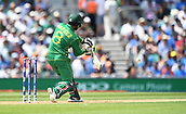 June 18th 2017, The Kia Oval, London, England;  ICC Champions Trophy Cricket Final; India versus Pakistan; Mohammad Hafeez of Pakistan lines up to cut the ball on the off-side