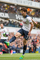 Son Heung-Min of Tottenham Hotspur during the Premier League match between Tottenham Hotspur and Bournemouth at White Hart Lane, London, England on 15 April 2017. Photo by Mark  Hawkins / PRiME Media Images.