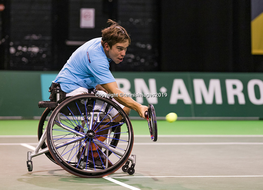 Rotterdam, The Netherlands, 14 Februari 2019, ABNAMRO World Tennis Tournament, Ahoy, wheelchair, Martin De La Puente (ESP),<br /> Photo: www.tennisimages.com/Henk Koster