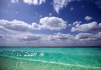 Beach, surf, sky,
