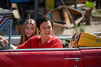 ACTION POINT (2018)<br /> (L-R) Eleanor Worthington-Cox and Johnny Knoxville <br /> *Filmstill - Editorial Use Only*<br /> CAP/FB<br /> Image supplied by Capital Pictures