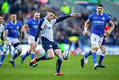 2nd February 2019, Murrayfield Stadium, Edinburgh, Scotland; Guinness Six Nations Rugby Championship, Scotland versus Italy; Finn Russell of Scotland clears the ball
