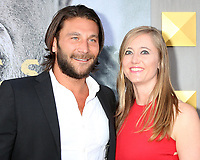 """LOS ANGELES - MAY 8:  Zach McGowan, Emily Johnson at the """"King Arthur Legend of the Sword"""" World Premiere on the TCL Chinese Theater IMAX on May 8, 2017 in Los Angeles, CA"""