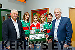 Crotta O'Neill's GAA family night at the Dogs, in the Kingdom Greyhound Stadium last Saturday starred L-R Paddy Weir, chairman, Ann Hussey, Amy O'Sullivan, Elaine McElligott, Maura Breen and Mike Parker, club PRO.