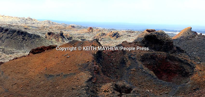 LANZAROTE, CANARY ISLANDS - Timanfaya National Park, during January 2016 in Lanzarote, Canary Islands<br /> <br /> Photo by Keith Mayhew