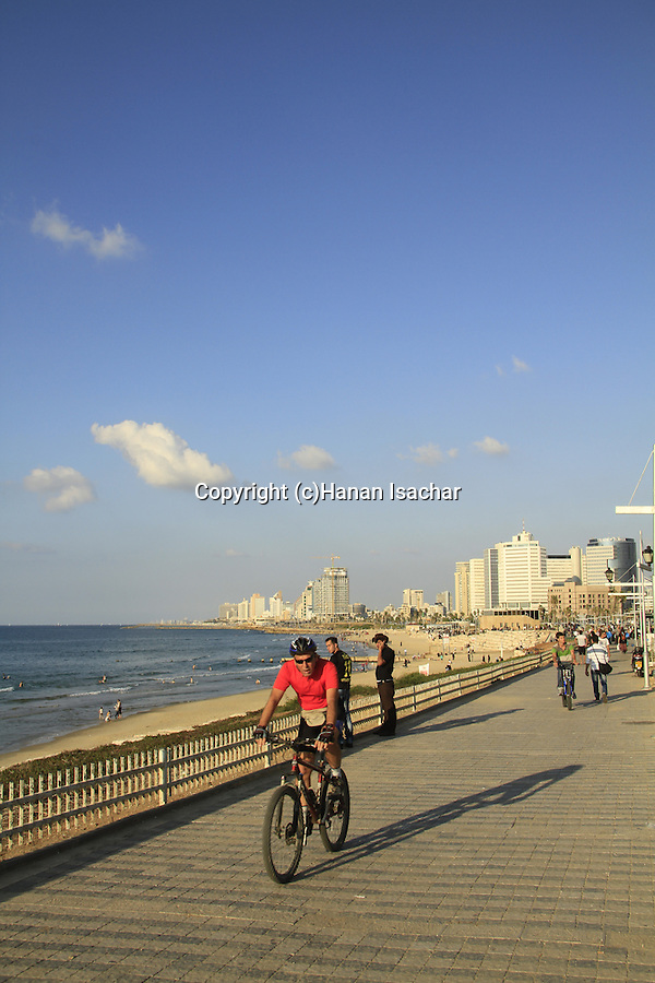 Israel, Tel Aviv-Yafo, the promenade in Jaffa