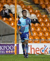 Anthony Stewart of Wycombe Wanderers celebrates his goal during the The Checkatrade Trophy match between Blackpool and Wycombe Wanderers at Bloomfield Road, Blackpool, England on 10 January 2017. Photo by Andy Rowland / PRiME Media Images.