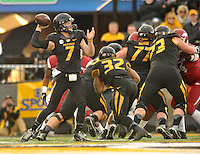 NWA Media/Michael Woods --11/28/2014-- w @NWAMICHAELW...Missouri quarterback Maty Mauk passes the ball in the 3rd quarter of Fridays game against Missouri at Faurot Field in Columbia Missouri.