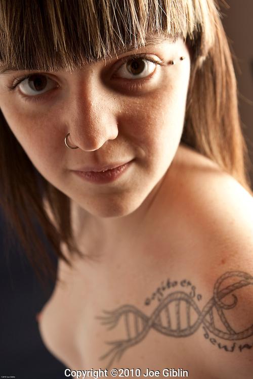Female Nude Model Chloe shoot in studio in Warwick, RI