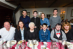 Double celebration for McKenzie Deutrom, Ballyheigue, celebrating his 13th birthday and Confirmation with family at Cassidy's on Friday. Pictured front l-r Eamonn Dwyer, Sinead Deutrom, Bell Hussey, McKenzie Deutrom, Michael Hussey, Caitriona Hussey. Back l-r Bradley Deutrom Elijah McGuire, Catherine Whelan and Josh McGuire