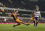 Tottenham's Christian Eriksen scoring his sides opening goal during the Premier League match at White Hart Lane Stadium, London. Picture date December 14th, 2016 Pic David Klein/Sportimage