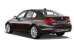 Rear three quarter view of a 2012 - 2014 BMW 3-Series 320d Modern 4 Door Sedan.