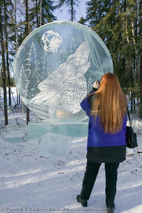Ice Sculpture, Multi block 2004 World Ice Art Championships, Fairbanks Alaska.
