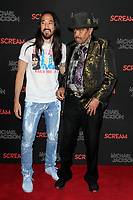 LOS ANGELES - OCT 24: Steve Aoki, Joe Jackson at The Estate of Michael Jackson and Sony Music present Michael Jackson Scream Halloween Takeover at TCL Chinese Theatre IMAX on October 24, 2017 in Los Angeles, California