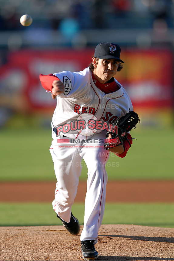 Pitcher Kyle Weiland #29 of the Pawtucket Red Sox during a game versus the Toledo Mud Hens on April 30, 2011 at McCoy Stadium in Pawtucket, Rhode Island. Photo by Ken Babbitt /Four Seam Images