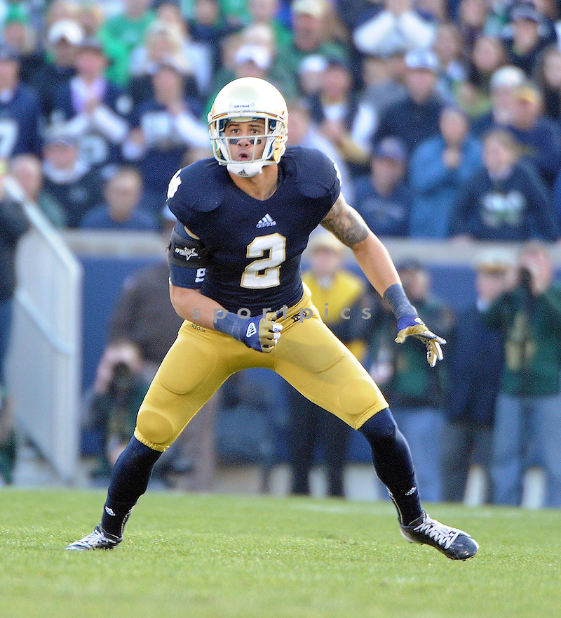 Notre Dame Fighting Irish Bennett Jackson (2) in action during a game against Wake Forest on November 17, 2012 at Notre Dame Stadium in South Bend, IN. Notre Dame beat Wake Forest 38-0.