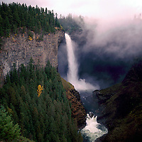 Murtle River flowing over Helmcken Falls (Elev 137 m / 449 ft) in Wells Gray Provincial Park near Clearwater, BC, British Columbia, Canada - Thompson Okanagan Region