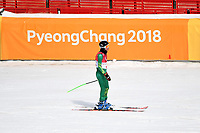 DH training / Jonty O'Callaghan<br /> PyeongChang 2018 Paralympic Games<br /> Australian Paralympic Committee<br /> PyeongChang South Korea<br /> Wednesday March 7th 2018<br /> &copy; Sport the library / Jeff Crow