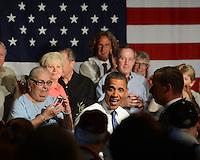 WEST PALM BEACH, FL - JULY 19: U.S. President Barack Obama delivers remarks to seniors at Century Village on July 19, 2012 in West Palm Beach, Florida. ©mpi04/MediaPunch Inc. /*NORTEPHOTO.com*<br /> **SOLO*VENTA*EN*MEXICO**<br />  **CREDITO*OBLIGATORIO** *No*Venta*A*Terceros*<br /> *No*Sale*So*third* ***No*Se*Permite*Hacer Archivo***No*Sale*So*third*©Imagenes*con derechos*de*autor©todos*reservados*