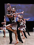 """07.12.2019,  GER; Tanzen, WDSF Weltmeisterschaft der Lateinformationen, Zwischenrunde, im Bild Moon Dance (MGL) mit dem Thema """"Falcon"""" Foto © nordphoto / Witke"""