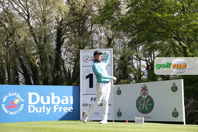 Rory McIlroy (NIR) plays to the 17th during Round One of the 2016 Dubai Duty Free Irish Open Hosted by The Rory Foundation which is played at the K Club Golf Resort, Straffan, Co. Kildare, Ireland. 19/05/2016. Picture Golffile | David Lloyd.<br /> <br /> All photo usage must display a mandatory copyright credit as: &copy; Golffile | David Lloyd.