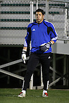 27 March 2004: Tony Meola during pregame warmups. Los Angeles Galaxy defeated the Kansas City Wizards 1-0 at SAS Stadium in Cary, NC in the final preseason game for both Major League Soccer teams as part of the Cary Pro Kickoff Invitational tournament..