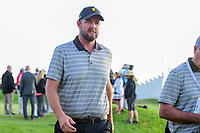 Marc Leishman (AUS) departs 18 during round 2 Four-Ball of the 2017 President's Cup, Liberty National Golf Club, Jersey City, New Jersey, USA. 9/29/2017.<br /> Picture: Golffile | Ken Murray<br /> <br /> All photo usage must carry mandatory copyright credit (&copy; Golffile | Ken Murray)