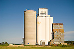 Midway Coop grain elevators--concrete, painted concrete, metal
