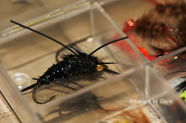 Various fly fishing flies for trout and steelehad