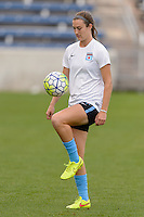 Chicago, IL - Sunday Sept. 04, 2016: Katie Naughton prior to a regular season National Women's Soccer League (NWSL) match between the Chicago Red Stars and Seattle Reign FC at Toyota Park.