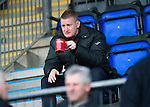 St Johnstone v Inverness Caley Thistle..29.12.12      SPL.Steve Lomas takes his place in the stands with a coffee.Picture by Graeme Hart..Copyright Perthshire Picture Agency.Tel: 01738 623350  Mobile: 07990 594431