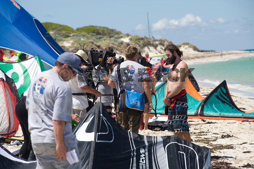 Dale Stanton from Australia winner of the Redbull Lighthouse to Leighton Kitesurfing Race in Western Australia.