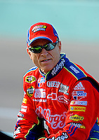 Nov. 20, 2009; Homestead, FL, USA; NASCAR Sprint Cup Series driver Mark Martin during qualifying for the Ford 400 at Homestead Miami Speedway. Mandatory Credit: Mark J. Rebilas-