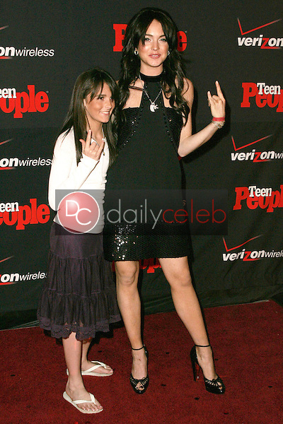 Lindsay Lohan and her sister Aliana<br />