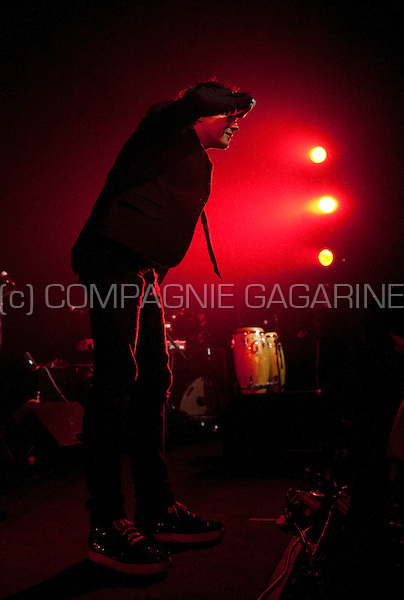 British singer Jamie Cullum in concert at the Jazz Middelheim festival in Antwerp (Belgium, 14/08/2011)