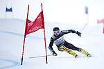 09 MAR 2016:  Dominique Garand (6) of the University of Vermont competes in the giant slalom during the NCAA Division I Men's and Women's Skiing Championships take place at the Steamboat Ski Resort in Steamboat Springs, CO.  Garand tied for 4th place with a 1:51.78 time.  Jamie Schwaberow/NCAA Photos