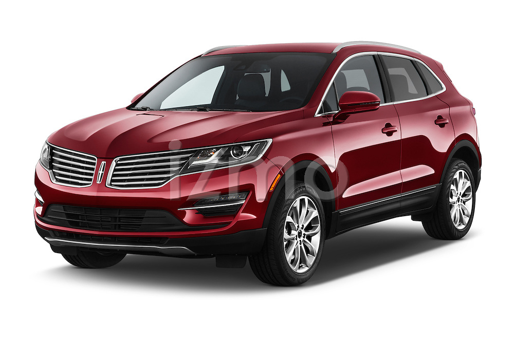 2015 Lincoln MKC FWD 5 Door SUV Angular Front stock photos of front three quarter view