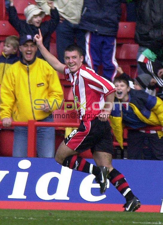 PIX...Nationwide Divison One...05/03/2000.Sheffield United v QPR.COPYWRIGHT..Alex Notman celebrates his goal for Sheffield United.