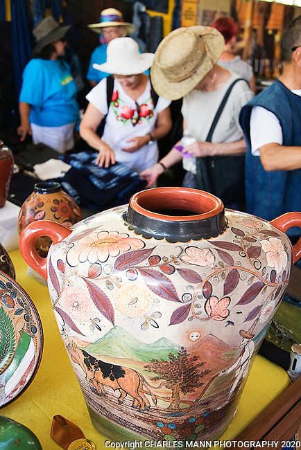 The Santa Fe International Folk Art Market attracts a huge crowd of shoppers and features a wide variety of folk artists from all over the world.