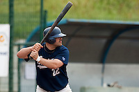 23 May 2009: Vincent Ferreira of Savigny is seen at bat during the 2009 challenge de France, a tournament with the best French baseball teams - all eight elite league clubs - to determine a spot in the European Cup next year, at Montpellier, France. Savigny wins 4-1 over Senart.