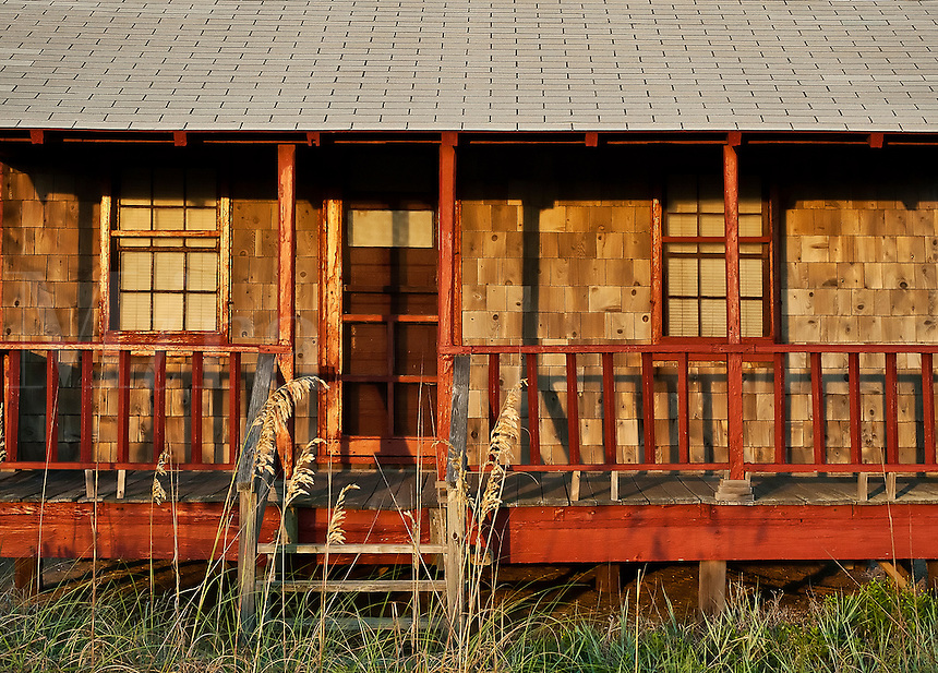 Weathered cottage.