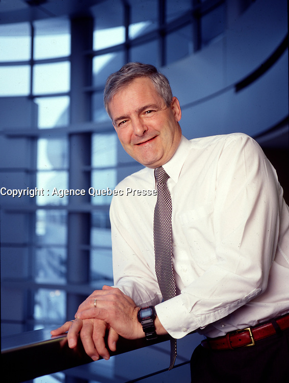 Saint-Hubert, CANADA - EXCLUSIVE - 2002 File Photo - former astronaut Marc Garneau when he was head of the canadian Space Agency in Saint-Hubert, south of Montreal