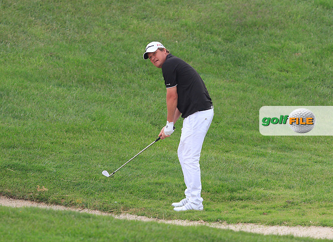 Jarmo Sandelin (SWE) on the 12th fairway during Round 1 of the Open de Espana  in Club de Golf el Prat, Barcelona on Thursday 14th May 2015.<br /> Picture:  Thos Caffrey / www.golffile.ie