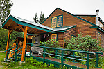 Hope Community Library, Hope, Southcentral Alaska, Summer.