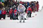 HOLMENKOLLEN, OSLO, NORWAY - March 16: Andrew Musgrave of Great Britain (GBR) during the Men 50 km mass start, free technique, at the FIS Cross Country World Cup on March 16, 2013 in Oslo, Norway. (Photo by Dirk Markgraf)