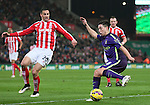 Samir Nasri of Manchester City torments Geoff Cameron of Stoke City - Barclays Premier League - Stoke City vs Manchester City - Britannia Stadium - Stoke on Trent - England - 11th February 2015 - Picture Simon Bellis/Sportimage