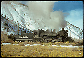 D&amp;RGW #486 K-36 in Monarch-Maysville area.<br /> D&amp;RGW  Monarch - Maysville, CO