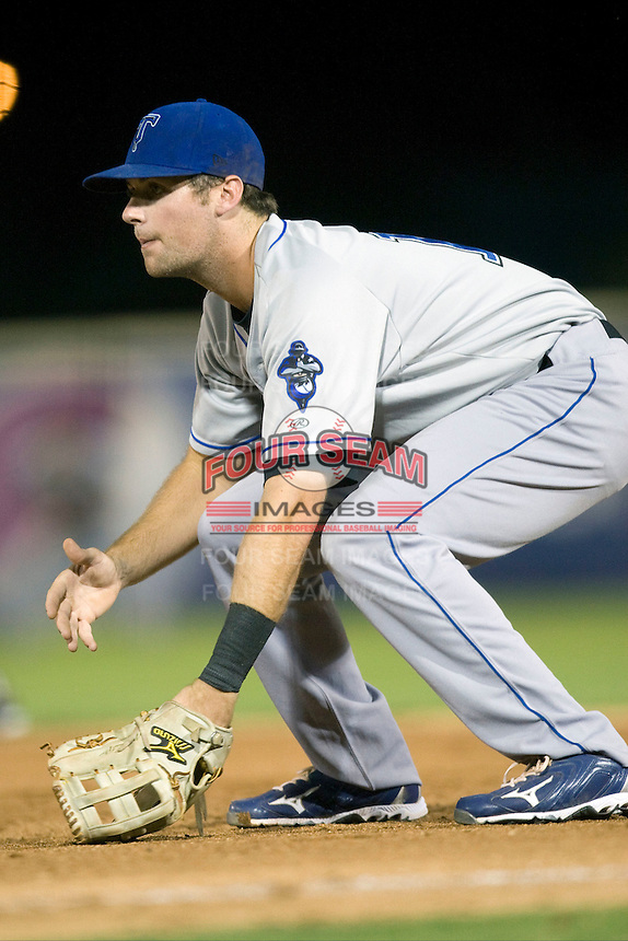 Tulsa Drillers first baseman Ben Paulsen #11 plays defense at the Texas League All Star Game played on June 29, 2011 at Nelson Wolff Stadium in San Antonio, Texas. The South defeated the North 3-2 in the contest. (Andrew Woolley / Four Seam Images)